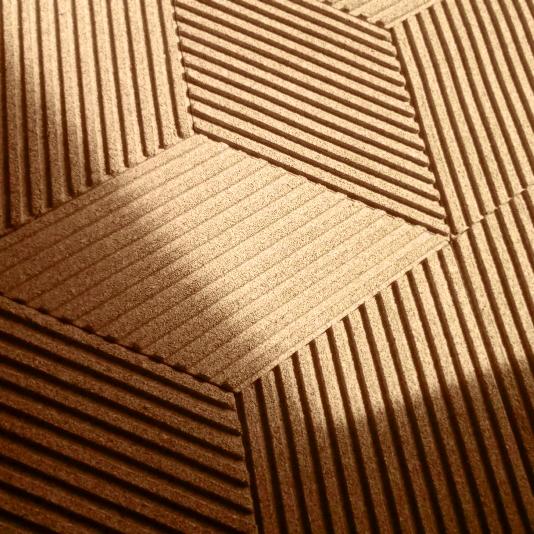 Dekorative kork væg 3D Stripe & Line