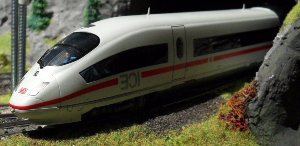Kork modell tåg banvallen