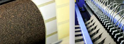 zelfklevend rubber kurk walsbekleding