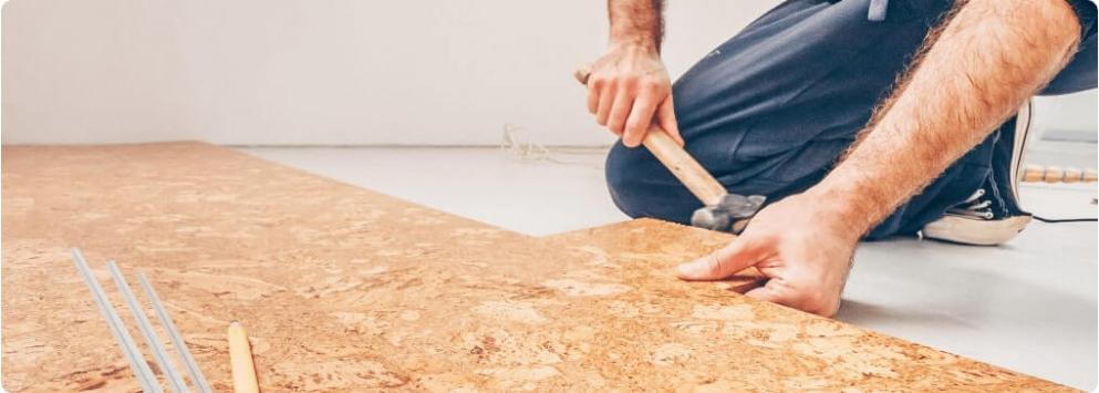 Korková podlahová izolace<br>