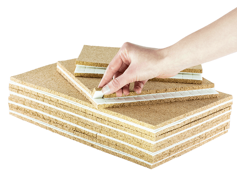 Cork pads for glass protection