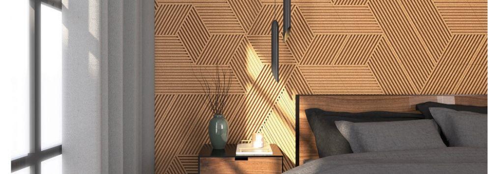 3D stripe<br>kork væg