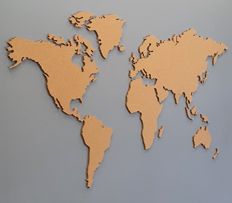 Cartina Mondo In Sughero.Mappamondo Sughero 80x150cm Bestseller Mappamondo Sughero Cartina Mondo Sughero Globi Di Sughero Esperti Di Sughero Naturale