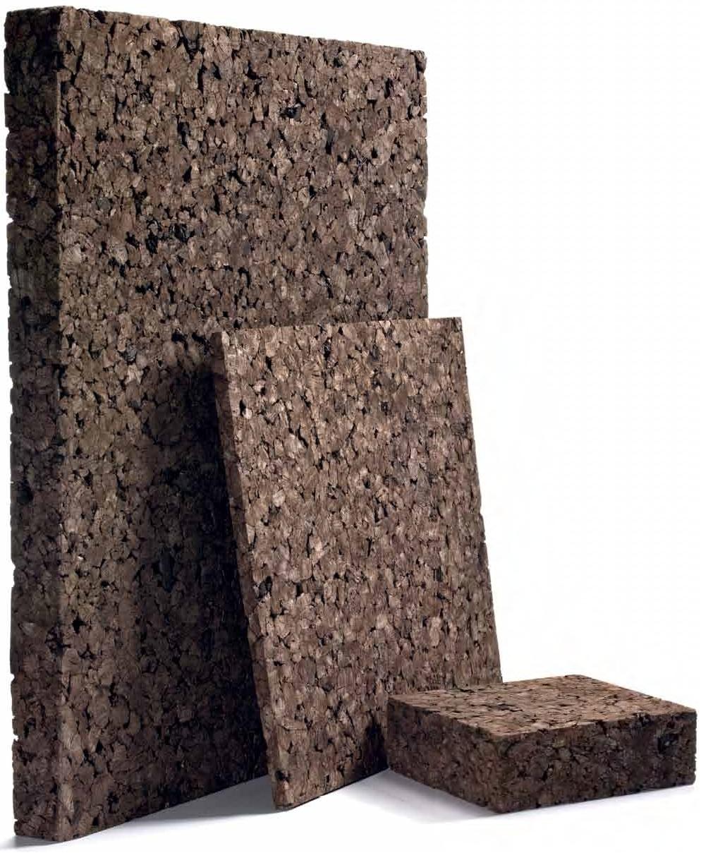 Laminas de corcho negro aislante 50x500x1000mm - Aislante de corcho ...