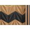 Decorative NATURAL 3D LINES cork wall tiles - BESTSELLER!