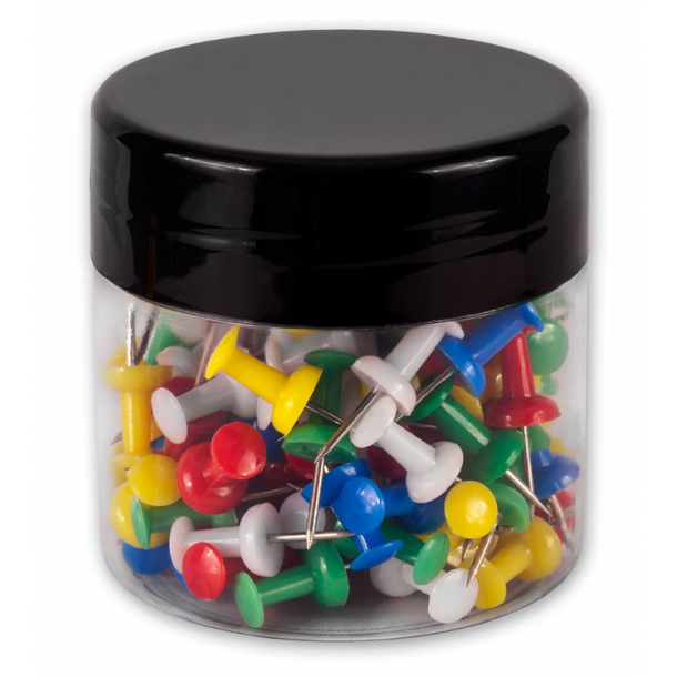 100pcs/Box Colored Cork Board Safety Plastic Push Pins