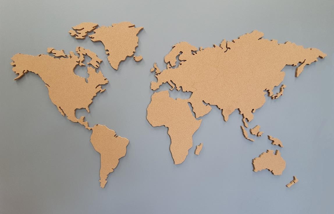 Cartina Mondo In Sughero.Zohrmlzosftgam