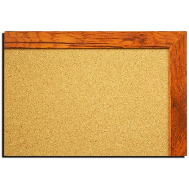 AGED OAK MDF framed cork pin board 50x80cm