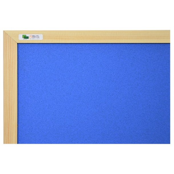 BLUE cork board 90x120cm with a wooden frame