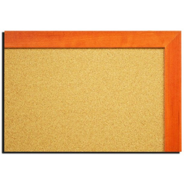CALVADOS MDF framed cork pin board 50x80cm