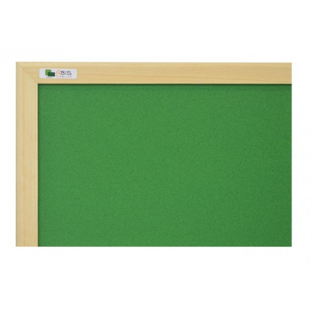DARK GREEN cork board 90x120cm with a wooden frame