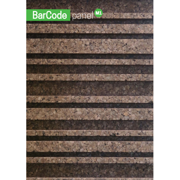 Decorative expanded 3D facade wall cork panel BarCode - 50x500x1000mm