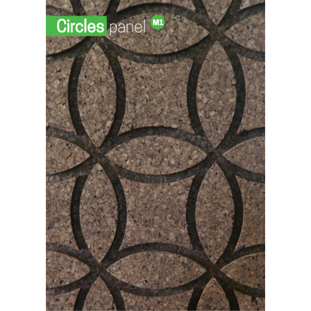Decorative expanded 3D facade wall cork panel Circles M1 - 40x500x1000mm