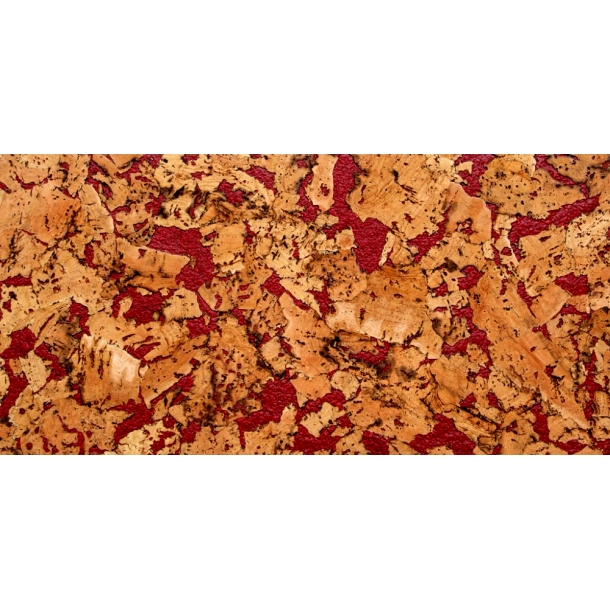Decorative cork wall tiles VARIO ROJO 3x300x600mm - package 1,98 m2