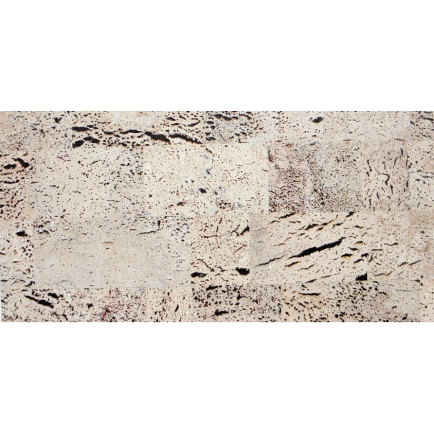 Decorative cork wall tiles EUROPA PB 3x300x600mm - package 1,98 m2