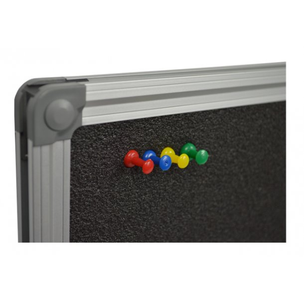 Foam pin board 60x120cm with an aluminium DecoLine frame