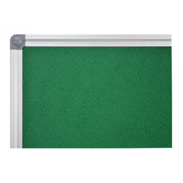 GREEN textile notice board 90x120cm with an aluminium DecoLine frame