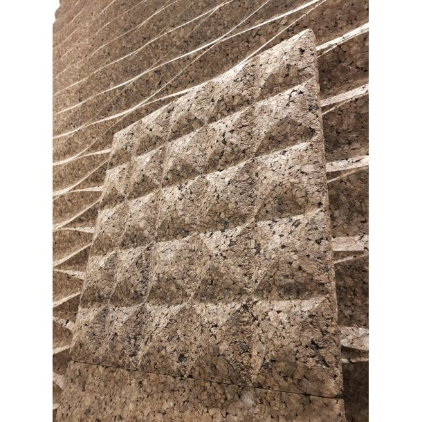 Decorative expanded 3D facade wall cork panel Pillow - 25x480x480mm
