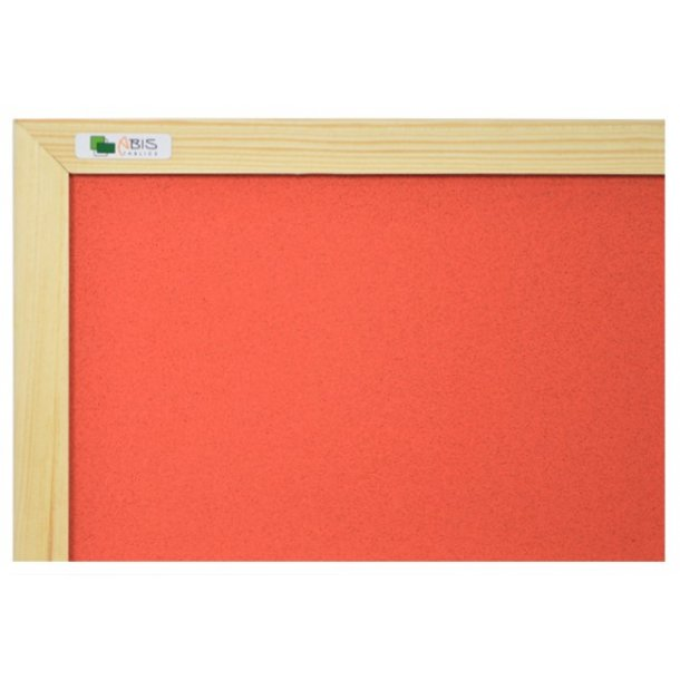 RED cork board 90x120cm with a wooden frame