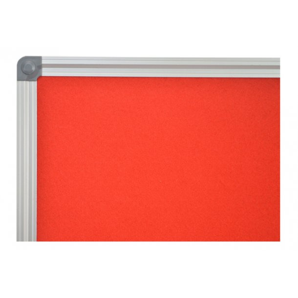 RED textile notice board 90x120cm with an aluminium DecoLine frame