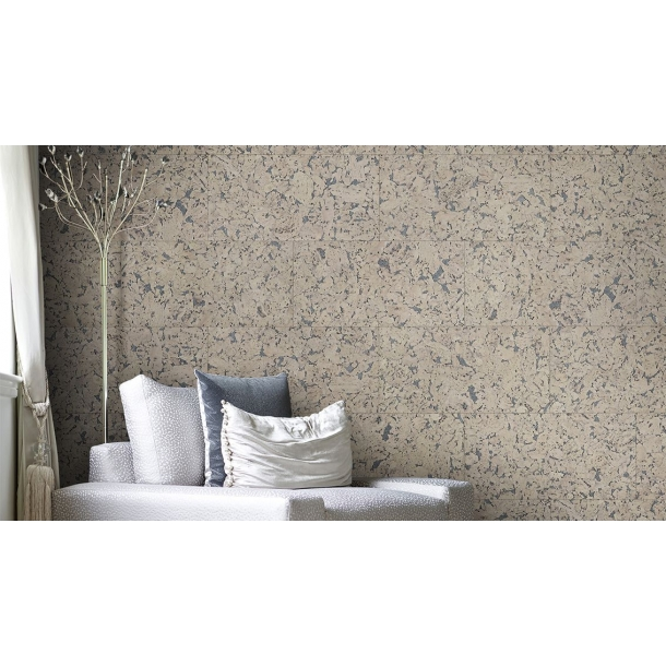 Decorative cork wall tiles HAWAI PEARL 3x300x600mm - package 1,98 m2