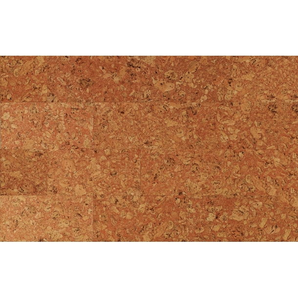Decorative cork wall tiles TENERIFE RED 3x300x600mm - package 1,98 m2