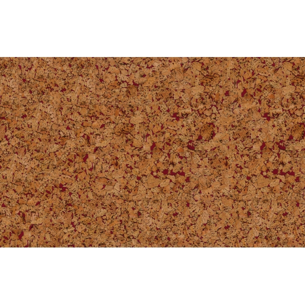 Decorative cork wall tiles HAWAI RED 3x300x600mm - package 1,98 m2