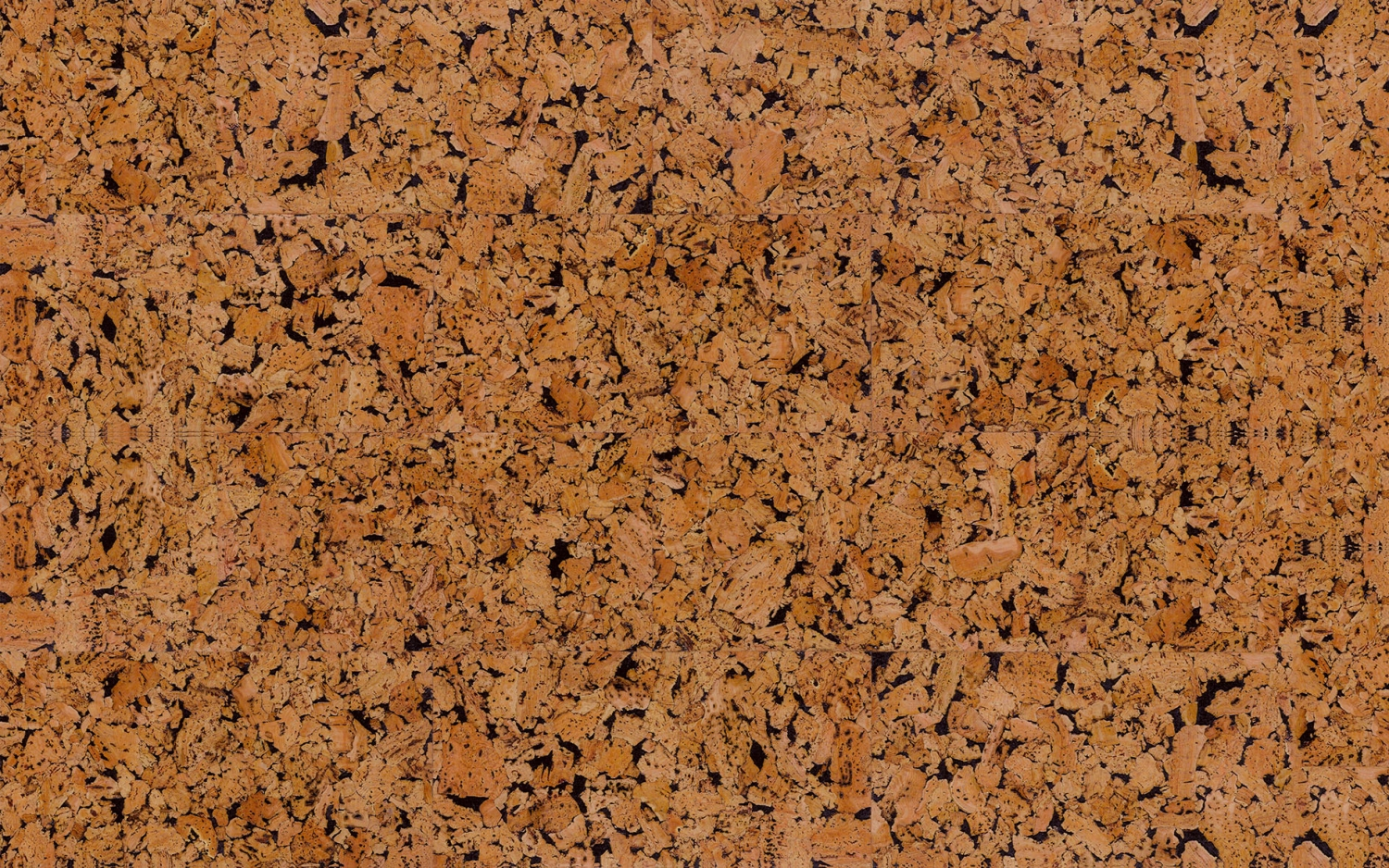Decorative Cork Wall Tiles Hawai Black 3x300x600mm