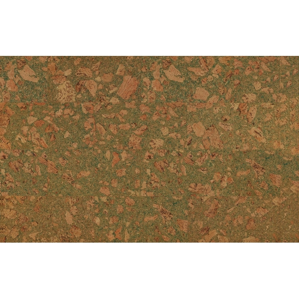 Decorative cork wall tiles TENERIFE GREEN 3x300x600mm - package 1,98 m2
