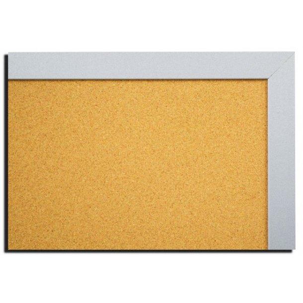 SILVER MDF framed cork pin board 45x60cm