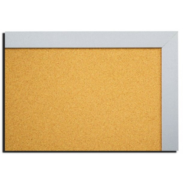 SILVER MDF framed cork pin board 50x100cm