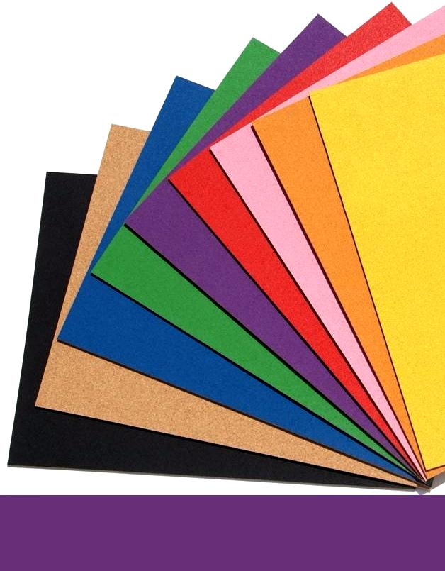 Self Adhesive Violet Cork Board Wall 5x455x610mm