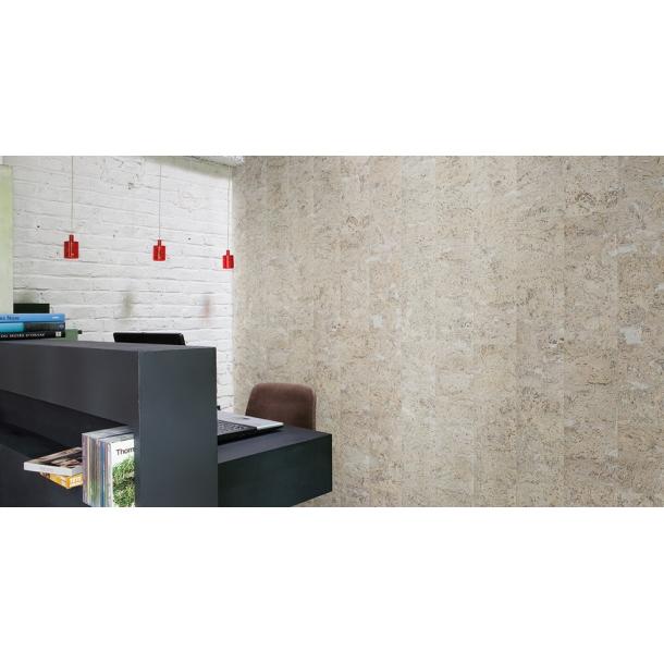 Decorative cork wall tiles STONE ART PEARL 3x300x600mm - package 1,98 m2