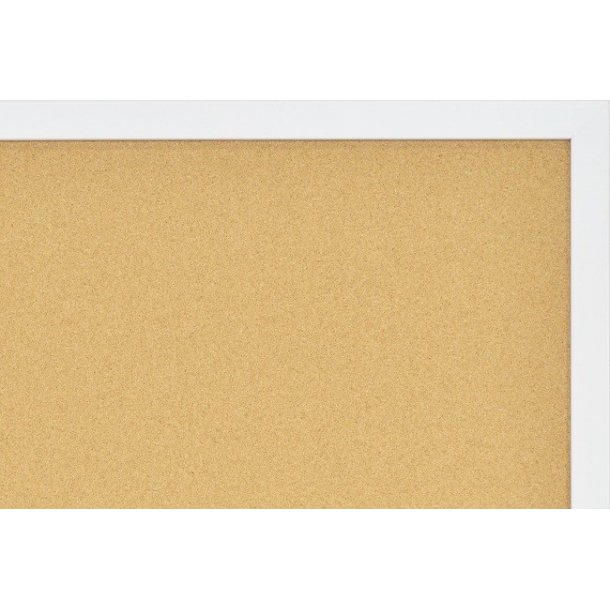 WHITE MDF framed cork pin board 60x120cm