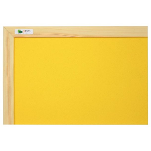 YELLOW cork board 90x120cm with a wooden frame