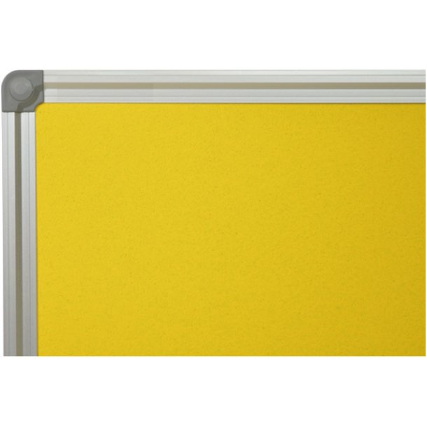 YELLOW cork memo board 60x120cm with an aluminium DecoLine frame