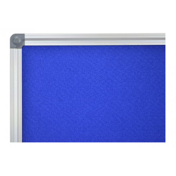 BLUE textile notice board 90x120cm with an aluminium DecoLine frame