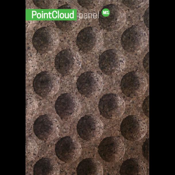 Korkfassade 3D Wandkork Golf (Point Cloud) - 50x500x1000mm