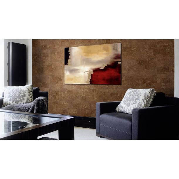 Decorative cork wall tiles MALTA CHESTNUT 3x300x600mm - package 1,98 m2