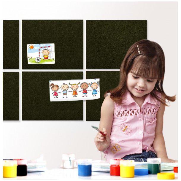 Self adhesive BLACK cork board wall 5x455x610mm