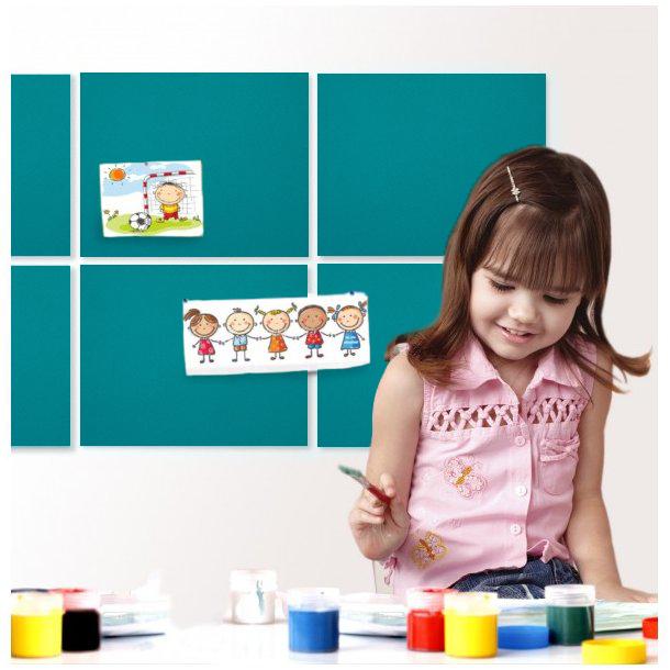 Self adhesive MINT GREEN cork board wall 5x455x610mm