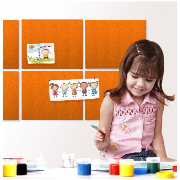 Self adhesive ORANGE cork board wall 5x455x610mm