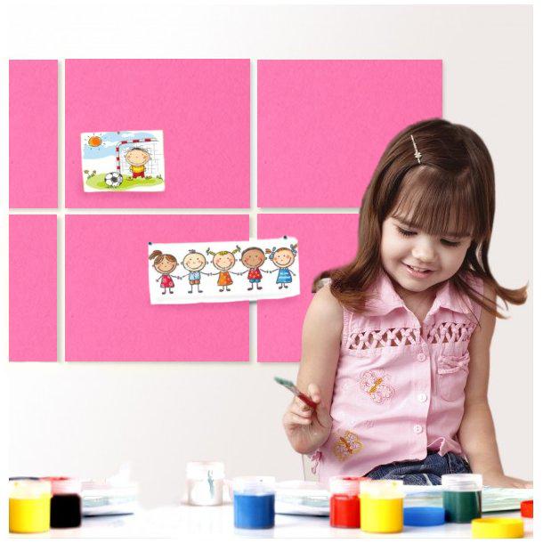 Self adhesive PINK cork board wall 5x455x610mm