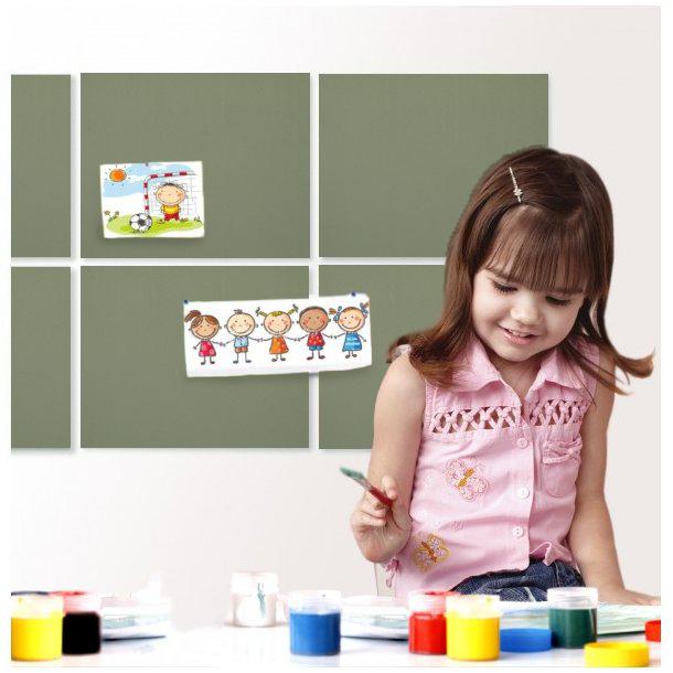Self adhesive PISTACHIO GREEN cork board wall 5x455x610mm