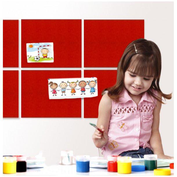 Self adhesive RED cork board wall 10x635x940mm