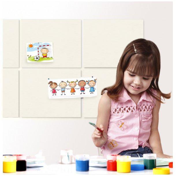 Self adhesive WHITE cork board wall 10x635x940mm - BESTSELLER!