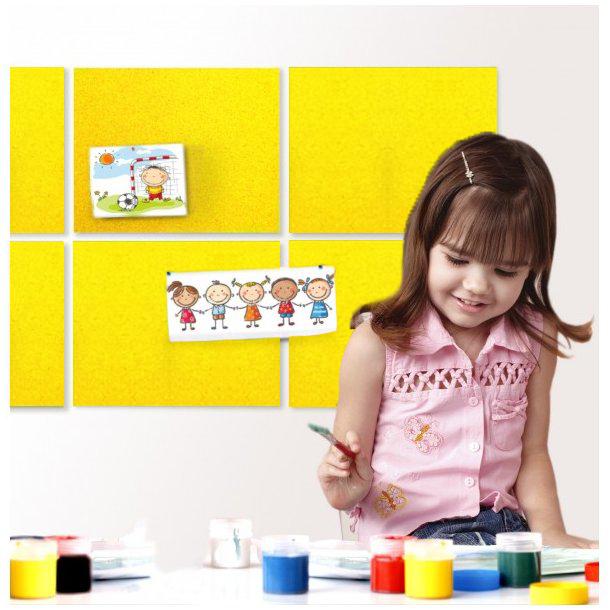Self adhesive YELLOW cork board wall 10x635x940mm