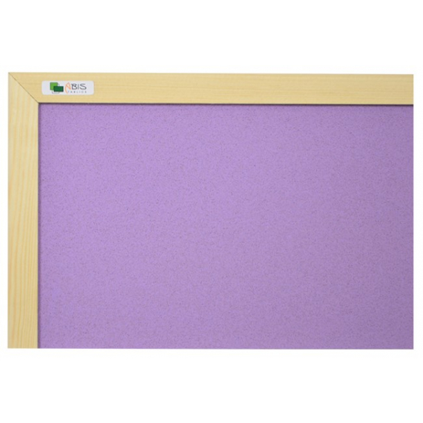 PURPLE cork board 90x120cm with a wooden frame