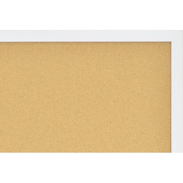WHITE MDF framed cork pin board 90x120cm