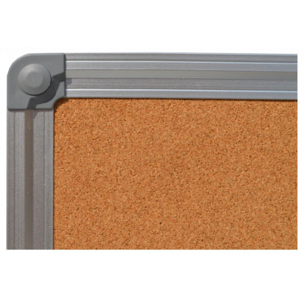 Cork pin board 70x100cm with an aluminium DecoLine frame